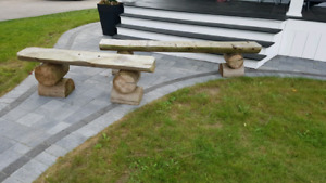 Log benches for sale