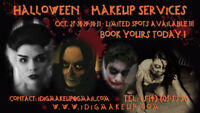 HALLOWEEN MAKE-UP SERVICES_25% OFF! BOOK YOURS TODAY!