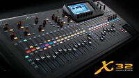Console Behringer x32 with 32 Midas preamps