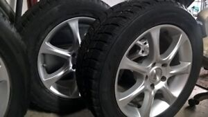 4 TIRES WITH RIMS, SIZE 235 55 R17