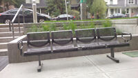 Steel Bench - for office/retail building