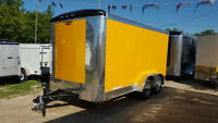 Large Number of 7x14 to 7x16 Enclosed Cargo Trailers Available