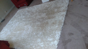 Ivory Shag Rug – Must Have!  Going to Auction soon