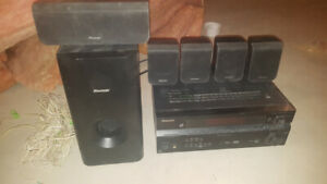 Pioneer SX-217 5.1 Channel Receiver with  6 speakers & Sub