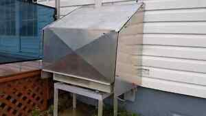 Heat pump cover with side storm kit