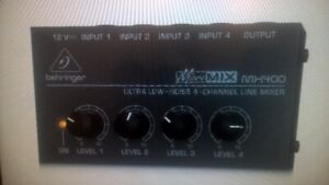 Behringer MX400 Ultra Low-Noise 4-Channel Line Mic Mixer