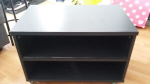 TV stand with wheels- black color, good condition! $60