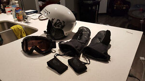 K2 Helmet,  Smith goggles and North Face gloves (women's)