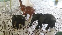 Vintage Wooden Elephants