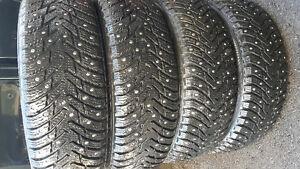 Used 185/70R14 Nokian Hakkapeliitta 8 Studded Tires