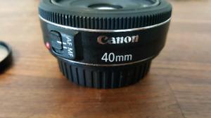 """Canon EF 40mm 1:2.8 STM """"PANCAKE"""" Lens"""