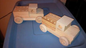 Set of 2 Old fashioned Toy Trucks