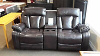 Loveseat Recliner with console - NEW