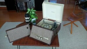 Vintage Early 1960s Portable Viking Record Player with Tube Amp