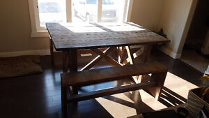 Custom, hand crafted table