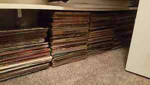Lot of 200-300 records, various genres