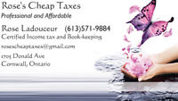 Rose's Cheap Taxes - 8 Years of Excellent Professional Service
