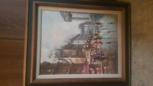 1920's canvas oil painting London Ontario image 1