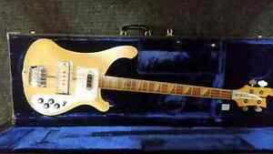 1977 Rickenbacker 4001 Electric Bass MapleGlo w/case