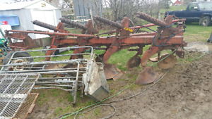 Semi mount 4 furrow plow and 12ft disc