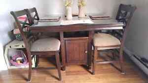 Bar height table with 8 chairs Windsor Region Ontario image 1