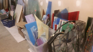 STAINED GLASS & SUPPLIES!! PICTURE FRAMES!