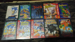 10 sega games in box