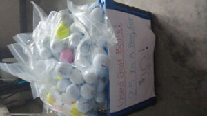 Golf Balls. 25 in a bag for $10!