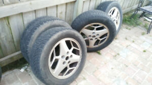 215 60 16 winter tires  4 tires and rims