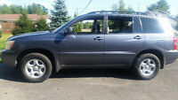 2003 Toyota Highlander SUV, Crossover..very Low Kms