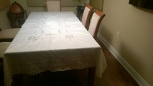 Handmade Stiched Table Cloth with 12 Napkins Kawartha Lakes Peterborough Area image 5