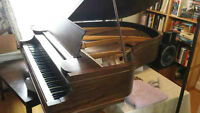 Chickering Baby Grand Piano and Bench Seat