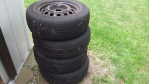 goodyear winter tires and rims P185 70 R14 m&s tires good for on