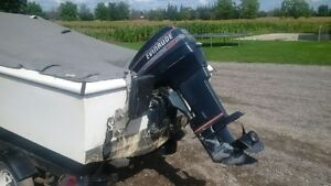 15' Fibreglass Boat with 50hp Envinrude and trailer Stratford Kitchener Area image 3