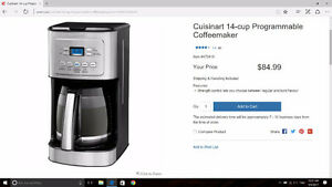 Brand new cuisinart coffee maker