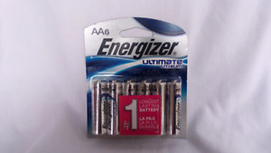Awesome Deal on Energizer Ultimate Lithium AA Batteries (6 pack)