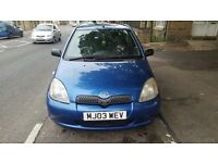 2003 Toyota Yaris 1.0 vvti good little runner loads of mot