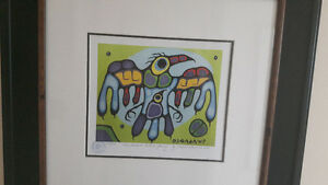 Norval Morrisseau Numbered Print /Thunderbird protects young