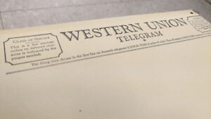 BIG BOX of Western Union Telegram blanks 1960s MAKE MONEY