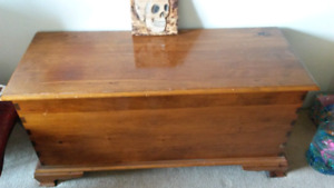 Hand made wooden blanket chest