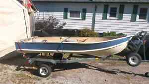 A nice 12' Aluminum Boat  and Trailer