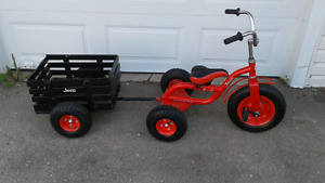 Jeep tricycle and wagon $40