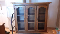 HUTCH, CHINA CABINET, ARMOIRE, CURIO, BOOKCASE, SHELF