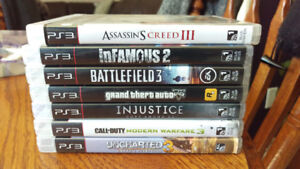 Sony PS3 Uncharted 3, Battlefield 3, GTA V