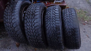 195 65R 15 GOODYEAR NORDIC WINTER SNOW TIRES & FORD RIMS
