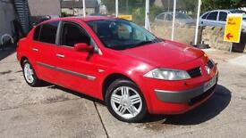 2003 53 RENAULT MEGANE SALOON 2.0 VVT AUTOMATIC PRIVILEDGE IN BRIGHT RED.FULLOT