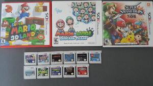 14 jeux 3ds Super Smas bros, mario lugi dream team, pokémon