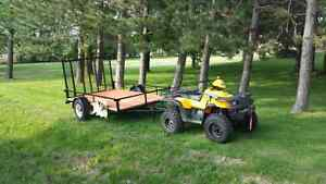 PACKAGE DEAL 6X10 TRAILER AND 4X4 ATV