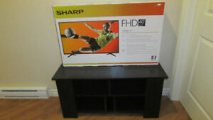 Brand-New, 40-inch LED tv by SHARP with FREE stand !!!