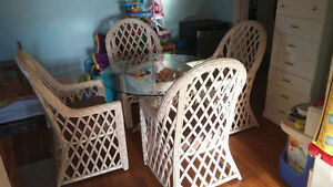 MOVING: Rattan Dining Set, Double Bed, TV Stand, Child Bed Set
